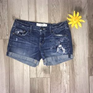 Abercrombie and Fitch embroidered jean shorts